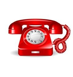 Retro rad telephone vector