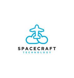 Rocket logo modern technology logo design vector