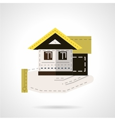 Sale of house flat icon vector image