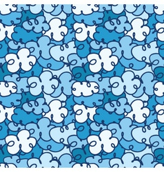 seamless pattern with a lot of clouds vector image
