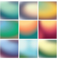 Set colorful mosaic background triangles vector