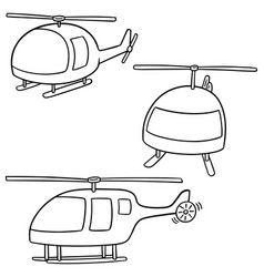 set of helicopter vector image
