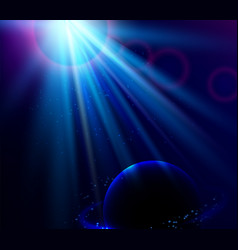 shining blue color light effects vector image