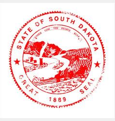South dakota seal rubber stamp vector