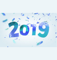 stock ice numbers 2019 blue vector image