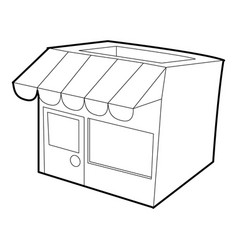 Store icon outline style vector