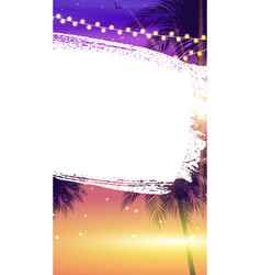 summer abstract instagram stories banner vector image
