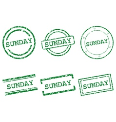 Sunday stamps vector image