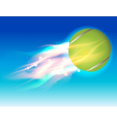 Tennis Ball Flaming in the Sky vector image