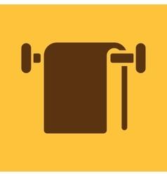 The towel icon Bathroom symbol Flat vector
