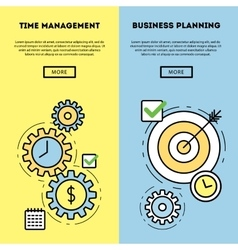 Time management and business planning graphic vector