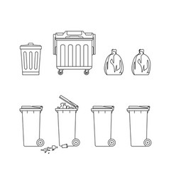 Trash cans and dumpsters vector