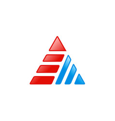 triangle stripe technology logo vector image