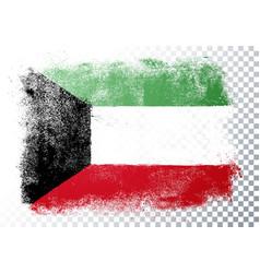 vintage grunge texture flag kuwait vector image