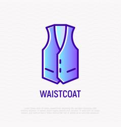 waistcoat thin line icon vector image
