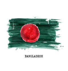 watercolor painting design flag of bangladesh vector image