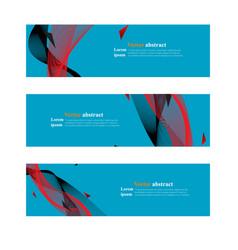 website header or banner web set abstract vector image