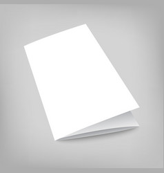 blank tri fold cover flyer on gray vector image vector image