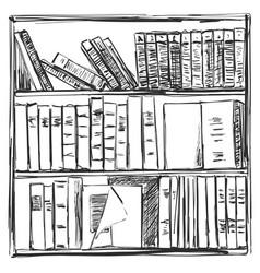 books background book shelves sketch vector image