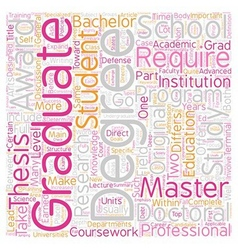 Should I go to Graduate School text background vector image
