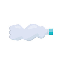 used plastic bottle on white background vector image vector image