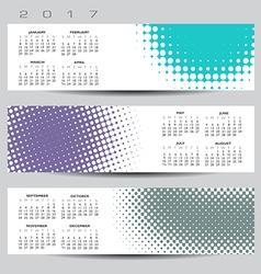 2017 calendar Dot banners vector image vector image