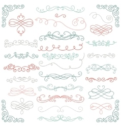 Colorful Doodle Hand Drawn Swirls vector image
