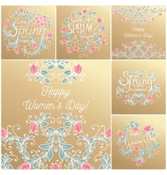 Hand drawing floral card vector image vector image