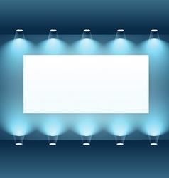 Presentation board with spot lights vector