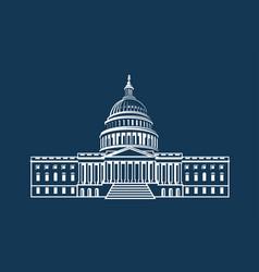 capitol building icon vector image