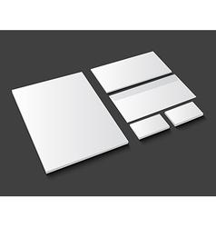 Corporate identity template stationery on dark vector
