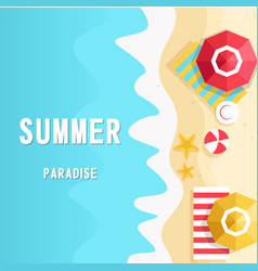 summer paradise the beach vertical background vect vector image vector image