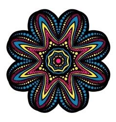 Mandala tribal ethnic ornament vector image