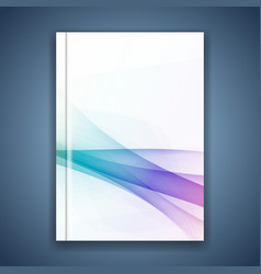 minimalistic abstract hipster wave folder layout vector image vector image