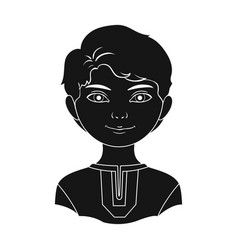 russianhuman race single icon in black style vector image vector image