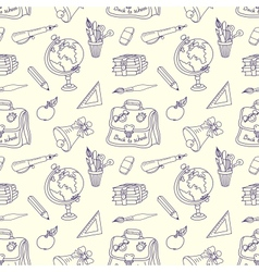 Scribble in a writing-books seamless pattern vector image
