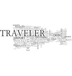 Air travel hassles text word cloud concept vector