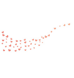background with different colored confetti hearts vector image