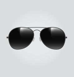 Black aviator sunglasses background vector