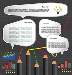 Business idea infographic with icons charts and pe vector