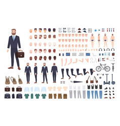 Businessman constructor or diy kit set male vector