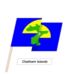Chatham Islands Ribbon Waving Flag Isolated on vector image