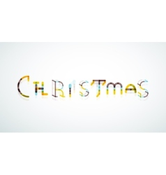 Christmas word concept font vector image