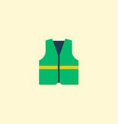 cleaners jacket icon flat element vector image