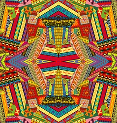 Colorful ethnic patchwork design vector