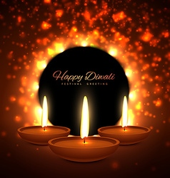 Colroful diwali season greeting card design vector