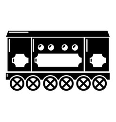 Compartment carriage icon simple style vector