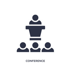 Conference icon on white background simple vector