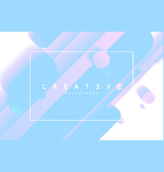 creative flow shapes vector image