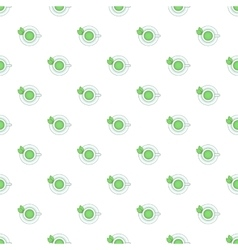 Cup of green tea pattern cartoon style vector